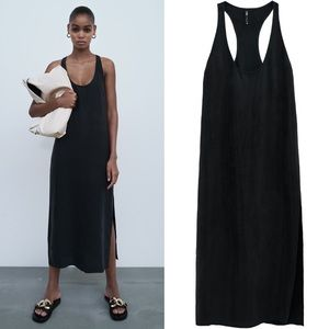 Zara Tank Dress With Side Slit.